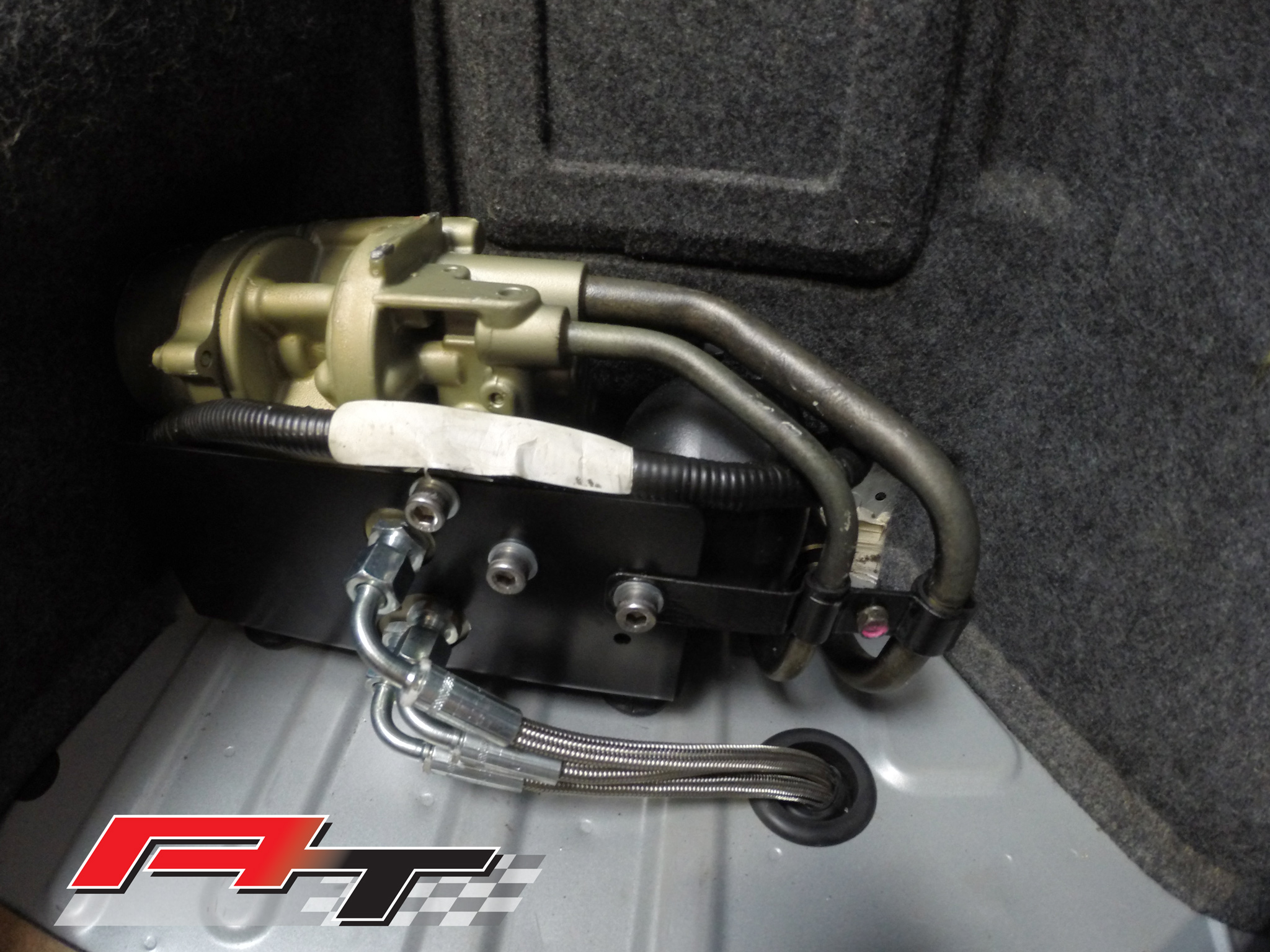 Mitsubishi Evo AYC Pump Relocation