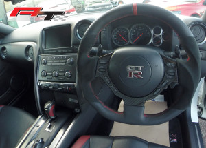 GTR-flat-bottom-steering-wheel-retrim-alcantara,-Auto-Torque