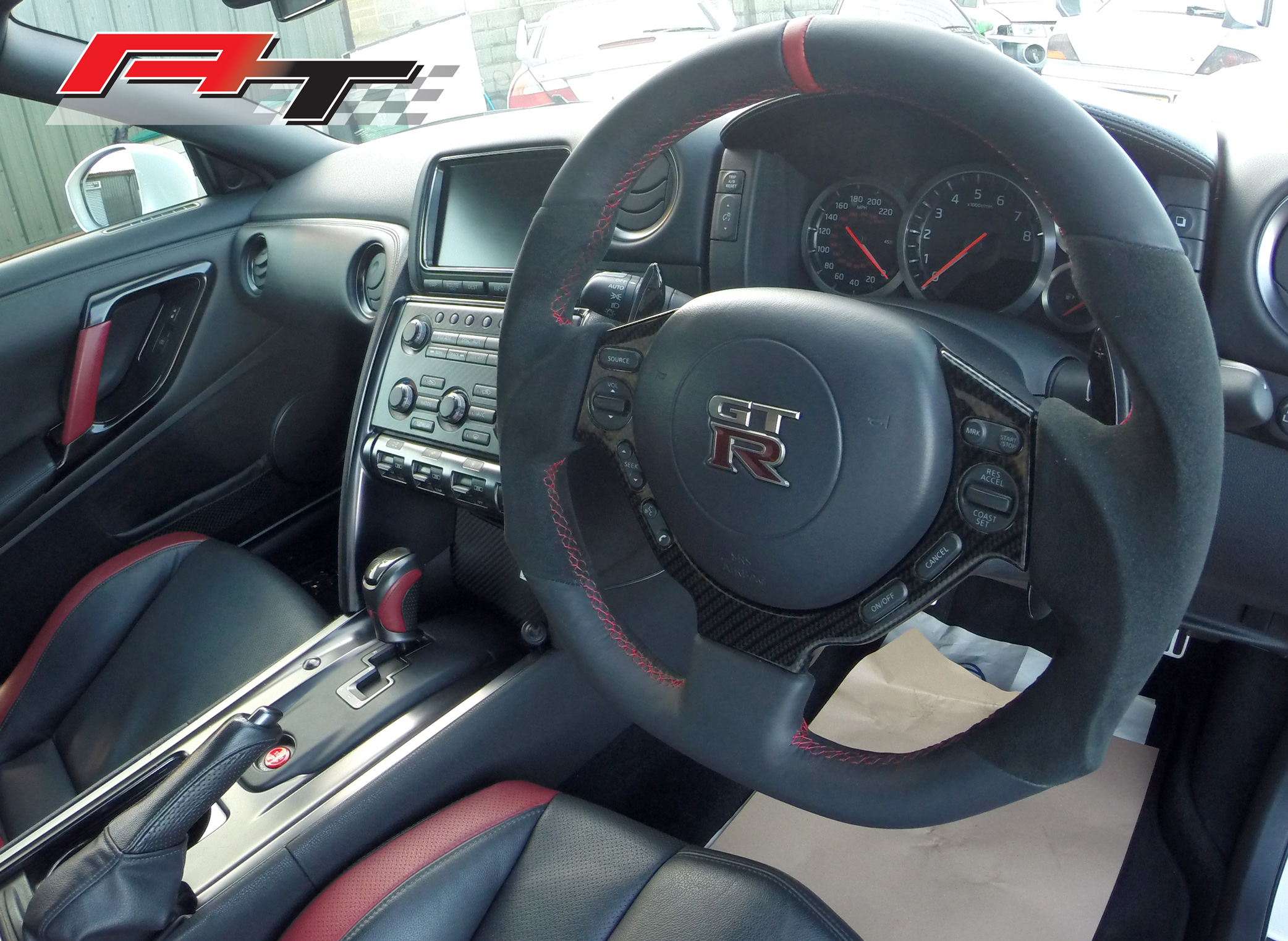 Nissan GTR Flat bottomed steering wheels