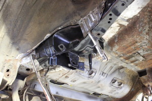 Mitsubishi Evo chassis leg restoration repair